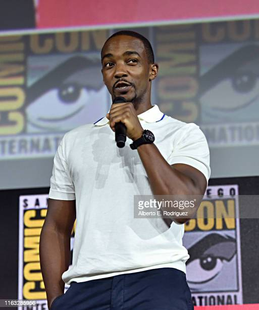 Anthony Mackie of Marvel Studios' 'The Falcon and The Winter Soldier' at the San Diego ComicCon International 2019 Marvel Studios Panel in Hall H on...