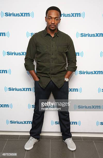 Anthony Mackie visits at SiriusXM Studios on November 17 2015 in New York City