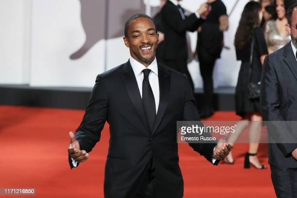 Anthony Mackie walks the red carpet ahead of the Seberg screening during the 76th Venice Film Festival at Sala Grande on August 30 2019 in Venice...