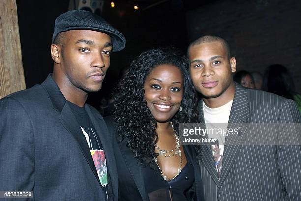 Anthony Mackie,Miatta David and JD Williams during Baby Phat After Party V.I.P. Room - September 11, 2005 at Guest House in New York, New York,...