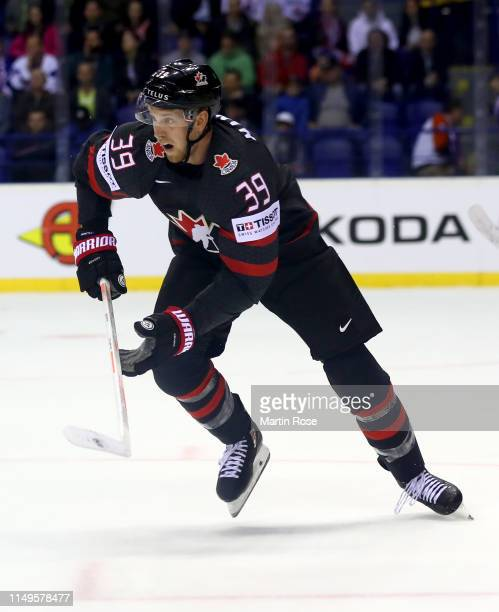 Anthony Mantha of Canada skates against France during the 2019 IIHF Ice Hockey World Championship Slovakia group A game between Canada and France at...
