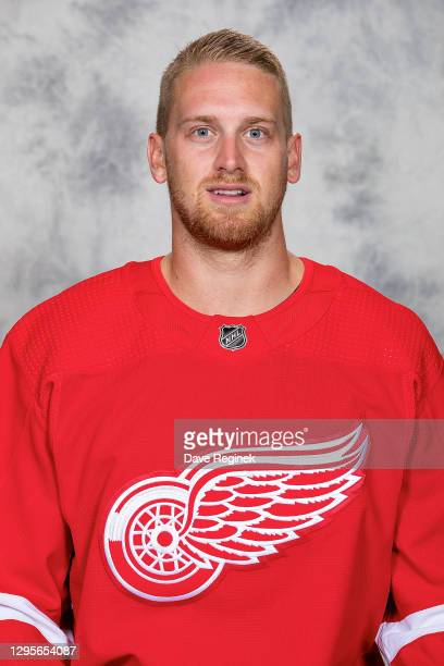 Anthony Mantha of the Detroit Red Wings poses for his official headshot for the 2020-2021 season at Center Ice Arena on September 12, 2019 in...