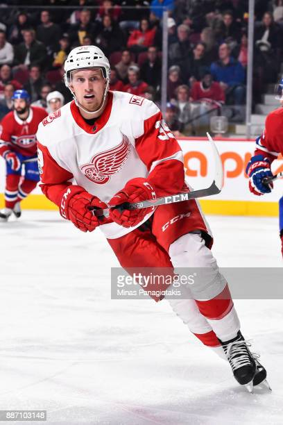 Anthony Mantha of the Detroit Red Wings skates against the Montreal Canadiens during the NHL game at the Bell Centre on December 2 2017 in Montreal...