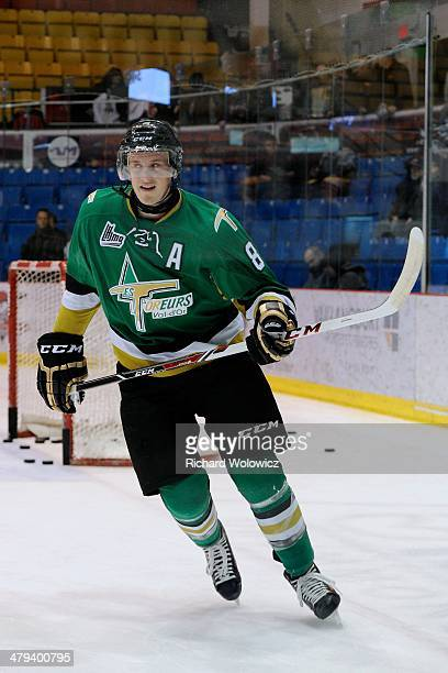 Anthony Mantha of the Val D'Or Foreurs skates during the warmup period prior to facing the Drummondville Voltigeurs in their QMJHL game at the Centre...