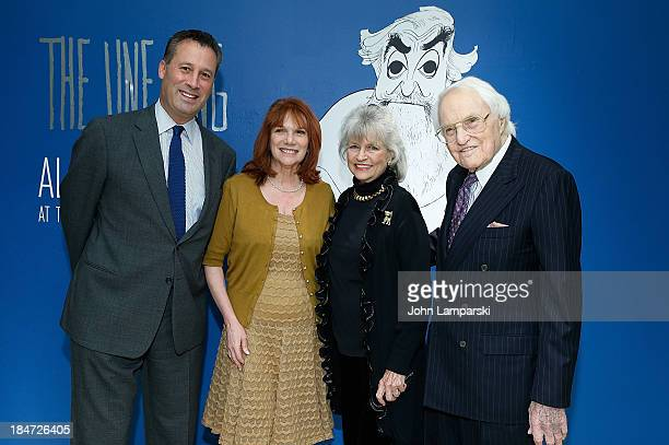 Anthony Marks Jacqueline Z Davis Louise Kerz Hirschfeld and Louis Cullman attend the VIP reception of The Line King Al Hirschfeld At The New York...