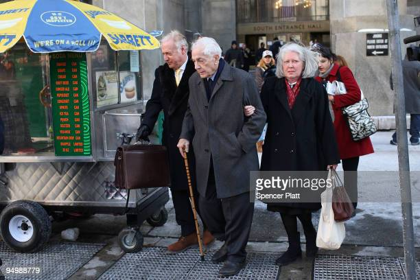 Anthony Marshall the son of the late New York philanthropist Brooke Astor leaves court with his wife Charlene Marshall after his sentencing hearing...