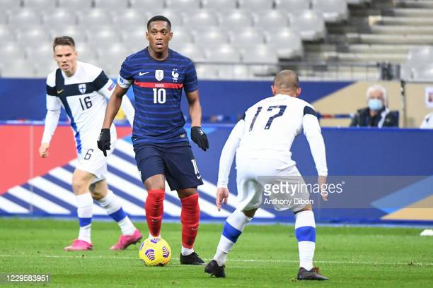 Anthony MARTIAL of France during the international friendly match between France and Finland at Stade de France on November 11, 2020 in Paris, France.