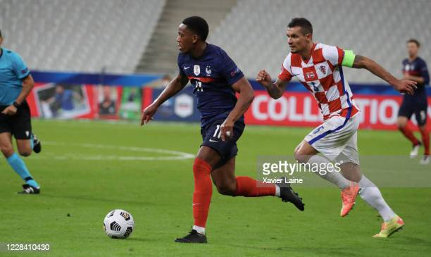 Anthony Martial of France in action with Ivan Perisic of Croatia during the UEFA Nations League group stage match between France and Croatia at Stade...