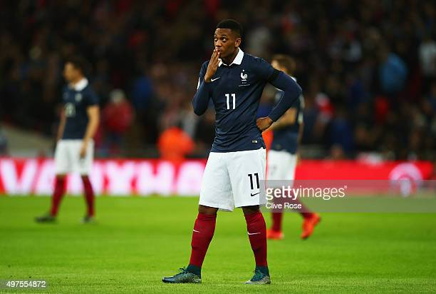 Anthony Martial of France looks on prior to the International Friendly match between England and France at Wembley Stadium on November 17 2015 in...