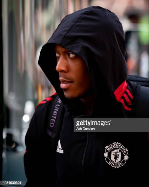 Anthony Martial of Manchester United arrives prior to the Premier League match between Wolverhampton Wanderers and Manchester United at Molineux on...