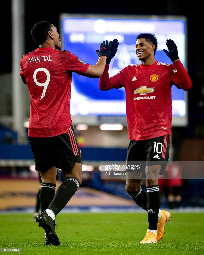 Everton v Manchester United - Carabao Cup Quarter Final : News Photo