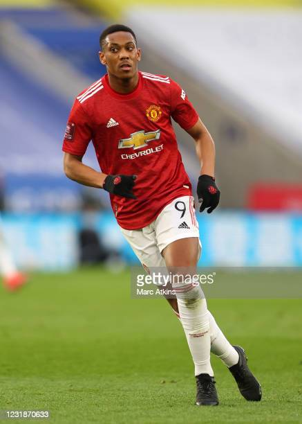 Anthony Martial of Manchester United during the Emirates FA Cup Quarter Final match between Leicester City and Manchester United at The King Power...
