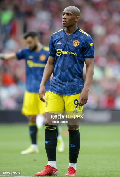 Anthony Martial of Manchester United during the Premier League match between Southampton and Manchester United at St Mary's Stadium on August 22,...