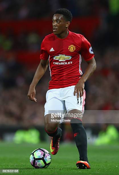 Anthony Martial of Manchester United during the Premier League match between Manchester United and Southampton at Old Trafford on August 19 2016 in...