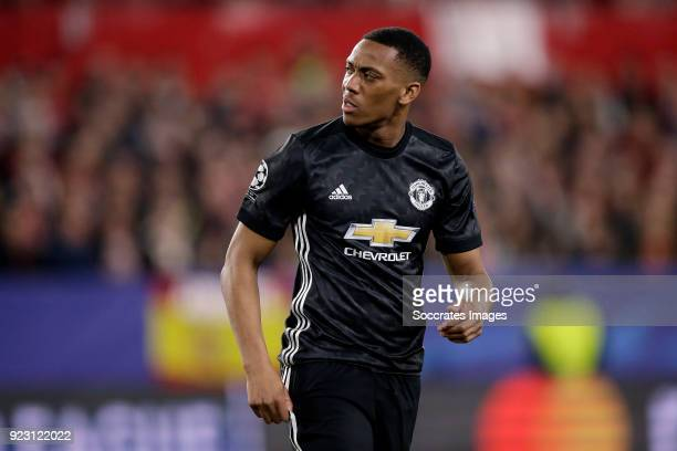 Anthony Martial of Manchester United during the UEFA Champions League match between Sevilla v Manchester United at the Estadio Ramon Sanchez Pizjuan...