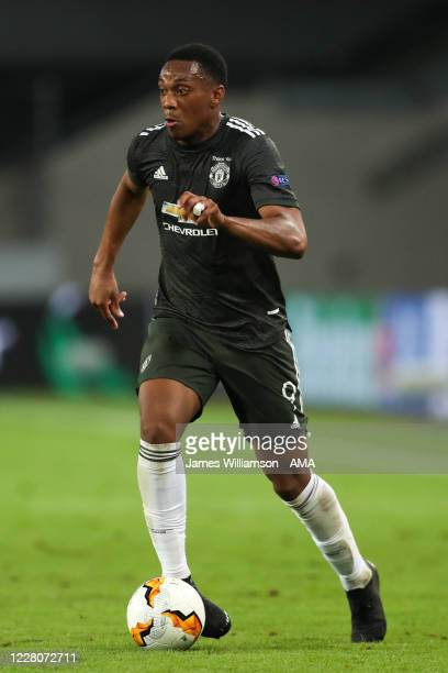 Anthony Martial of Manchester United during the UEFA Europa League Semi Final between Sevilla and Manchester United at RheinEnergieStadion on August...