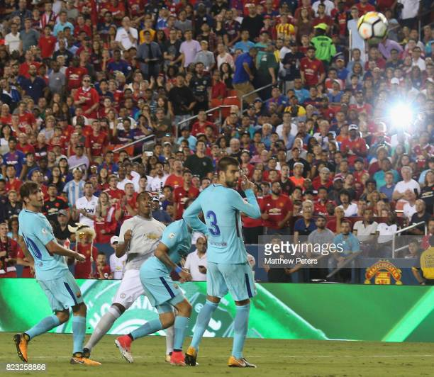 Anthony Martial of Manchester United has a shot on goal during the International Champions Cup 2017 pre-season friendly match between Manchester...