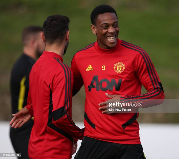 Anthony Martial of Manchester United in action during a first team training session on February 13 2020 in Malaga Spain