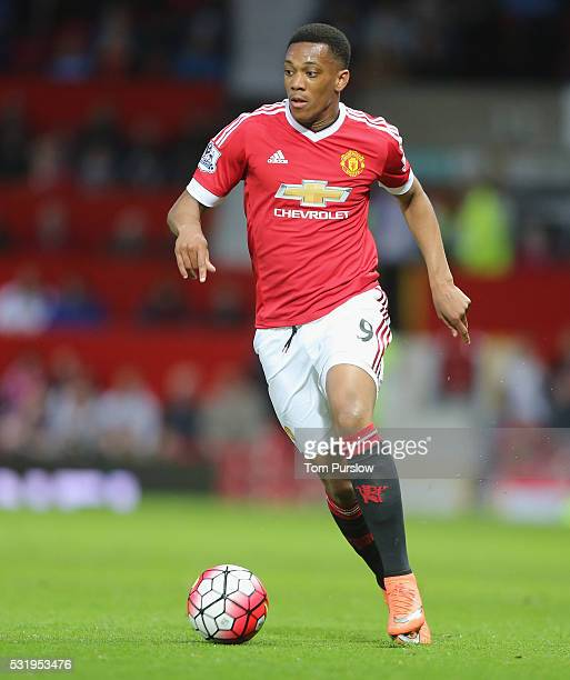 Anthony Martial of Manchester United in action during the Barclays Premier League match between Manchester United and AFC Bournemouth at Old Trafford...