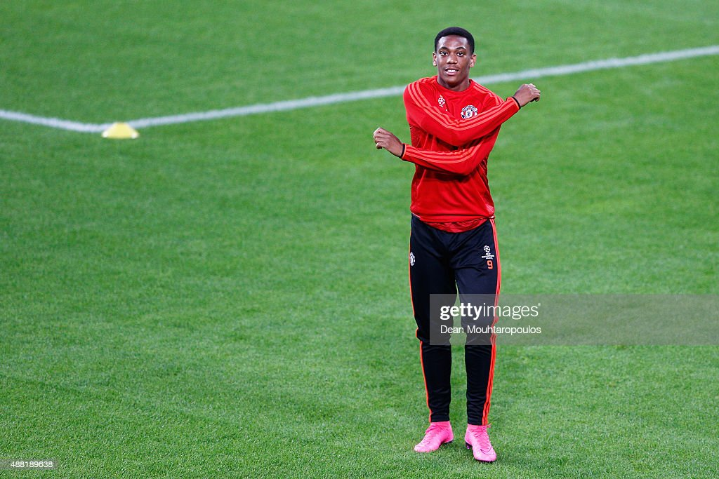 Anthony Martial of Manchester United in action during the Manchester United training session held at the Philips Stadion on September 14, 2015 in Eindhoven, Netherlands. PSV will paly Manchester United in their Group B match on 15th of September in Eindhoven.