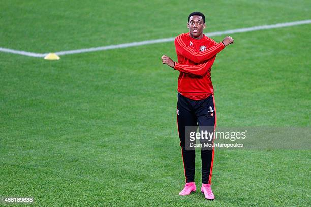 Anthony Martial of Manchester United in action during the Manchester United training session held at the Philips Stadion on September 14 2015 in...