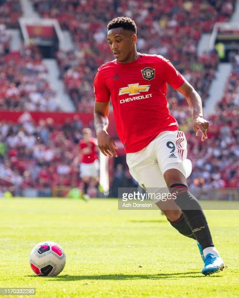 Anthony Martial of Manchester United in action during the Premier League match between Manchester United and Crystal Palace at Old Trafford on August...