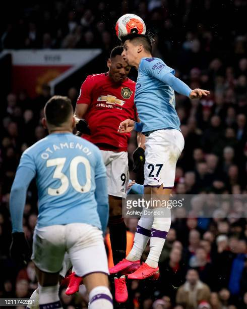 Anthony Martial of Manchester United in action during the Premier League match between Manchester United and Manchester City at Old Trafford on March...