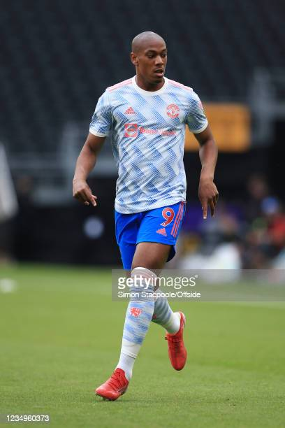 Anthony Martial of Manchester United in action during the Premier League match between Wolverhampton Wanderers and Manchester United at Molineux on...