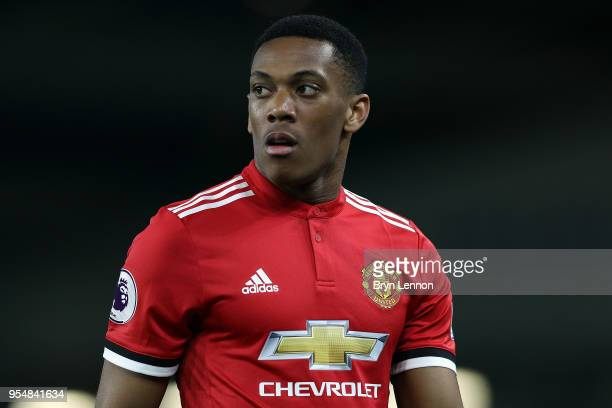 Anthony Martial of Manchester United in action during the Premier League match between Brighton and Hove Albion and Manchester United at Amex Stadium...