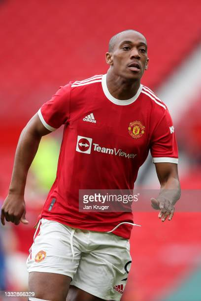 Anthony Martial of Manchester United in action during the pre-season friendly match between Manchester United and Everton at Old Trafford on August...