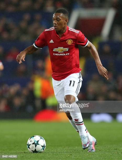 Anthony Martial of Manchester United in action during the UEFA Champions League group A match between Manchester United and FC Basel at Old Trafford...