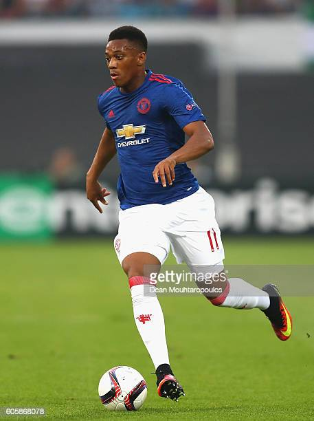 Anthony Martial of Manchester United in action during the UEFA Europa League Group A match between Feyenoord and Manchester United FC at Feijenoord...