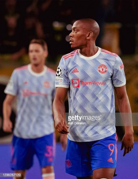 Anthony Martial of Manchester United looks on during the UEFA Champions League group F match between BSC Young Boys and Manchester United at Stadion...