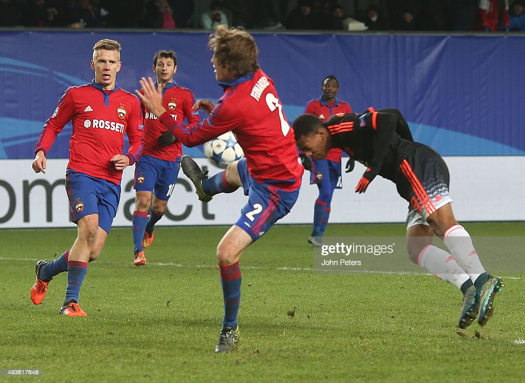 Pfc cska moskva v manchester united fc uefa champions league anthony martial of manchester united scores his teams first goal during the uefa champions league group voltagebd Images