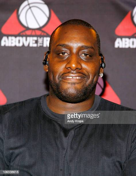 Anthony Mason attends Above The Rim Re-Launches Helping Players Rise Both On And Off The Court at Hudson Hotel on October 28, 2010 in New York City.