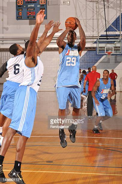 Anthony Mason, Jr. #29 of the Sioux Falls Skyforce puts up a shot during the NBA Development League Elite Mini Camp on June 4, 2012 at the Solheim...