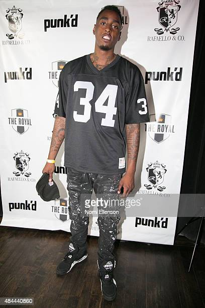 """Anthony Mason Jr. Attends producer Kenny Hamilton's private """"Punk'd"""" viewing party on August 18, 2015 in New York City."""