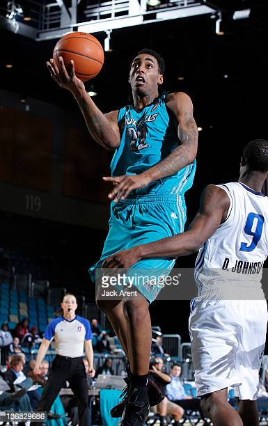 Anthony Mason of the Sioux Falls Skyforce drives to the basket against the Texas Legends during the 2012 NBA D-League Showcase on January 11, 2012 at...