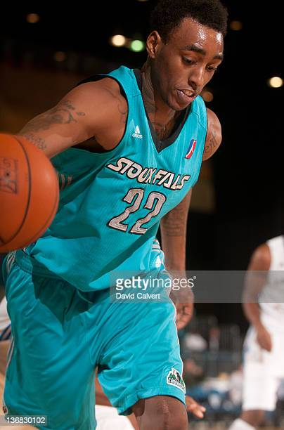Anthony Mason of the Sioux Falls Skyforce grabs a loose ball against the Texas Legends during the 2012 NBA D-League Showcase on January 11, 2012 at...