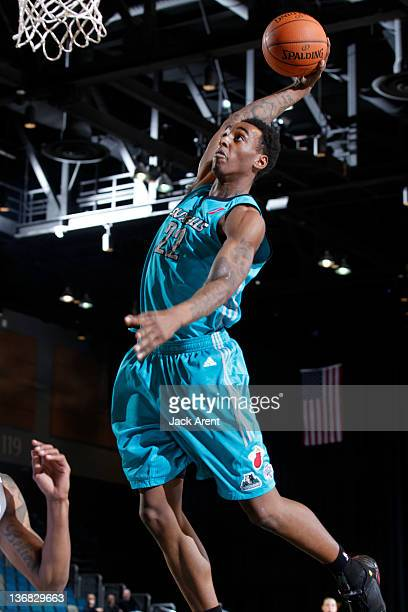 Anthony Mason of the Sioux Falls Skyforce slam dunks the ball against the Texas Legends during the 2012 NBA D-League Showcase on January 11, 2012 at...