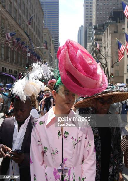 Anthony Maxwell Cristian Freedom and Max Wilson take part in the Easter Parade on Fifth Avenue at St Patrick's Cathedral on April 16 2017 in New York...