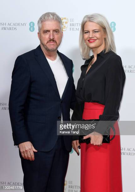 Anthony McCarten and Eva Maywald attend the EE British Academy Film Awards 2020 Nominees' Party at Kensington Palace on February 01 2020 in London...