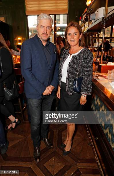 Anthony McCarten and Jennie Churchill attend a charity auction held at The Wigmore in partnership with the Royal British Legion to celebrate the...