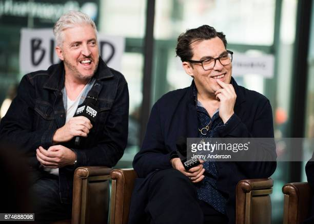 Anthony McCarten and Joe Wright attend AOL Build Series at Build Studio on November 15 2017 in New York City