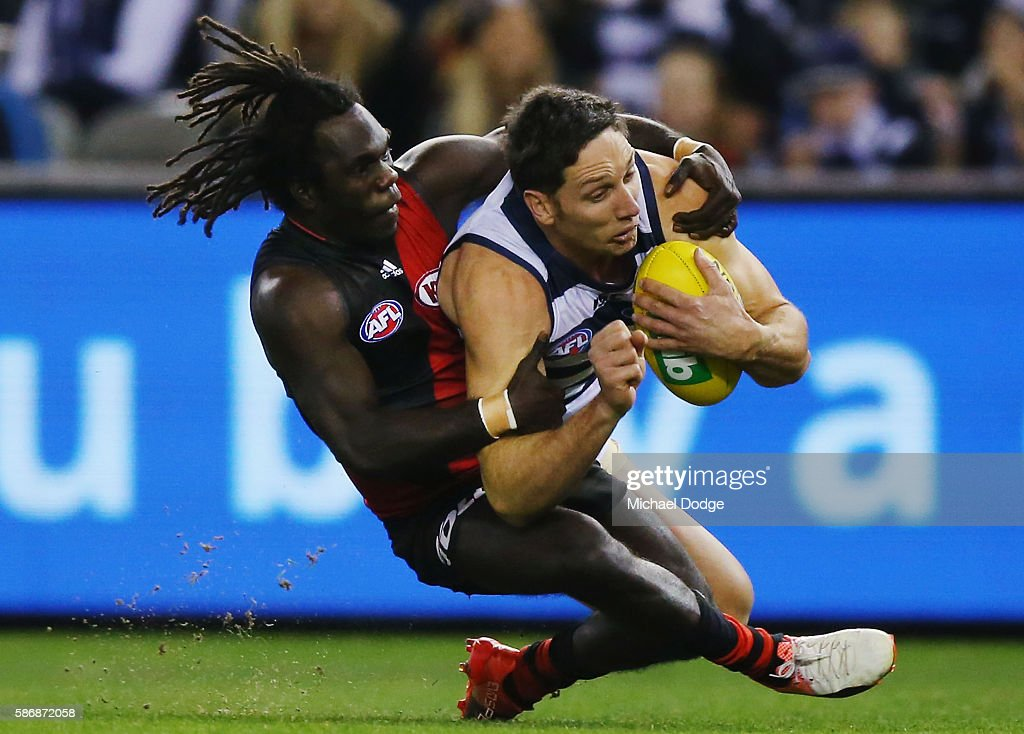 AFL Rd 20 - Geelong v Essendon : News Photo