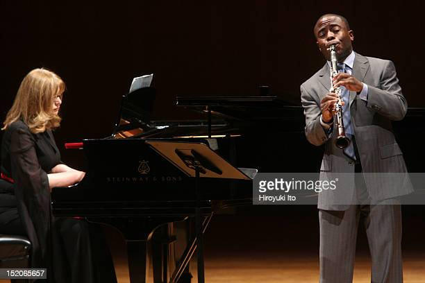 Anthony McGill and Friends at the Metropolitan Museum on Saturday night January 9 2010This imageAnthony McGill and Caroline Stoessinger performing...