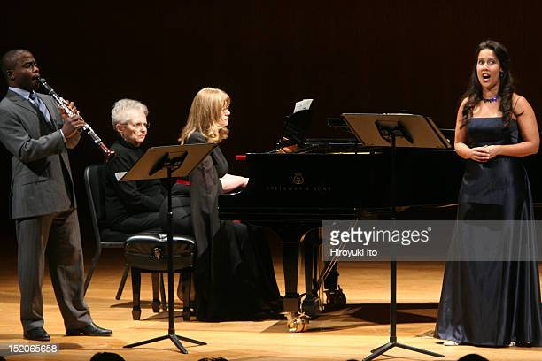 Anthony McGill and Friends at the Metropolitan Museum on Saturday night January 9 2010This imageFrom left Anthony McGill Caroline Stoessinger and...