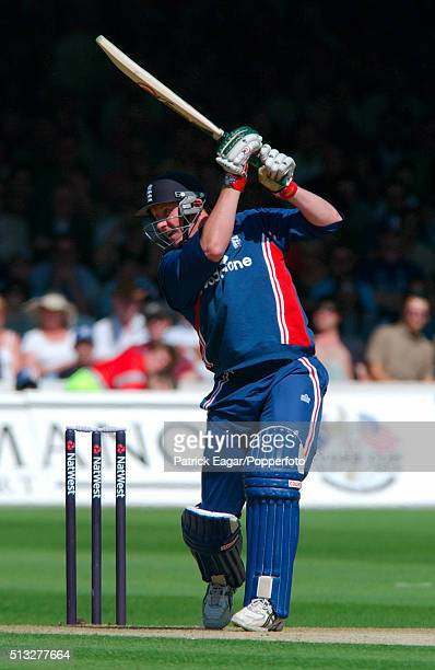 Anthony McGrath batting during the NatWest Series Final One Day International between England and South Africa at Lord's London 12th July 2003...