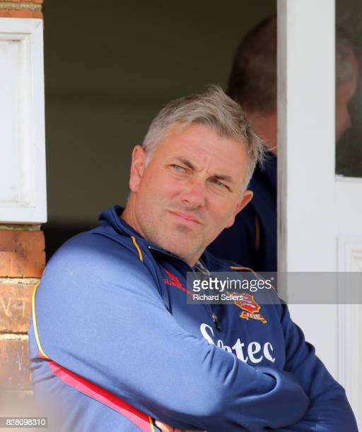 Anthony McGrath Essex club's assistant head coach during the Specsavers County Championship Division One between Yorkshire and Essex at North Marine...