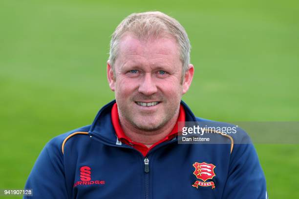 Anthony McGrath Head Coach of Essex County Cricket Club poses during the Essex CCC Photocall at Cloudfm County Ground on April 4 2018 in Chelmsford...